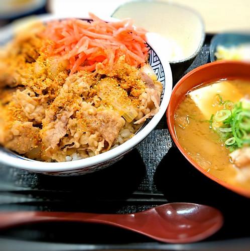 2 『吉野家』さんの牛丼(大盛)+α